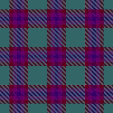 Green,Dark Purple and Blue Tartan Plaid Scottish Seamless Pattern. Texture from tartan, plaid, tablecloths, shirts, clothes, dresses, bedding, blankets and other textile. Çizim