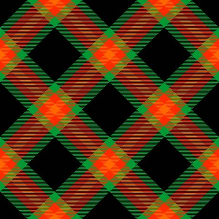 Orange,Gold,Green and Black Tartan Plaid Scottish Seamless Pattern. Texture from tartan, plaid, tablecloths, shirts, clothes, dresses, bedding, blankets and other textile. Çizim