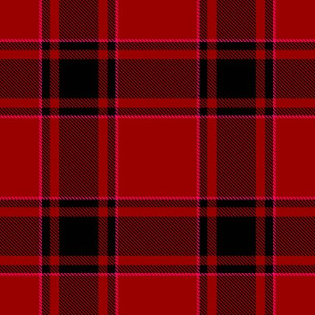 Red and Black Tartan Plaid Scottish Seamless Pattern. Texture from tartan, plaid, tablecloths, shirts, clothes, dresses, bedding, blankets and other textile. Çizim