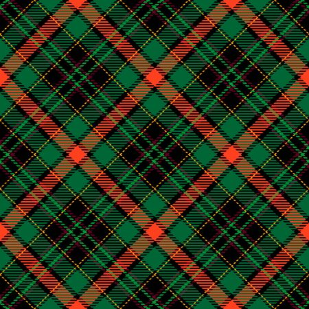 Green,Orange,Black and Yellow Tartan Plaid Scottish Seamless Pattern. Texture from tartan, plaid, tablecloths, shirts, clothes, dresses, bedding, blankets and other textile.