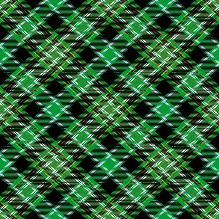 Green and Black Tartan Plaid Scottish Seamless Pattern. Texture from tartan, plaid, tablecloths, shirts, clothes, dresses, bedding, blankets and other textile.