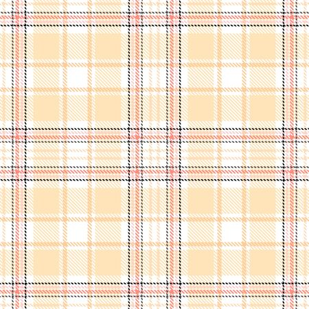 White,Yellow,Red and Black Tartan Plaid Scottish Seamless Pattern. Texture from tartan, plaid, tablecloths, shirts, clothes, dresses, bedding, blankets and other textile. Çizim