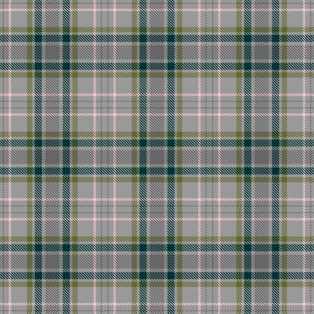 Gray,Green,Khaki and Pink Tartan Plaid Scottish Seamless Pattern. Texture from tartan, plaid, tablecloths, shirts, clothes, dresses, bedding, blankets and other textile.
