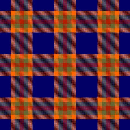 Blue,Orange,Khaki and Red Tartan Plaid Scottish Seamless Pattern. Texture from tartan, plaid, tablecloths, shirts, clothes, dresses, bedding, blankets and other textile.