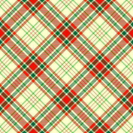 Beige,Red and Green Tartan Plaid Scottish Seamless Pattern. Texture from tartan, plaid, tablecloths, shirts, clothes, dresses, bedding, blankets and other textile. Çizim