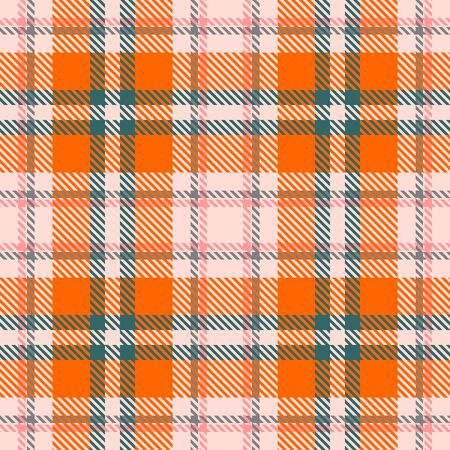 Orange,Green,Beige,Gray and Pink Tartan Plaid Scottish Seamless Pattern. Texture from tartan, plaid, tablecloths, shirts, clothes, dresses, bedding, blankets and other textile.