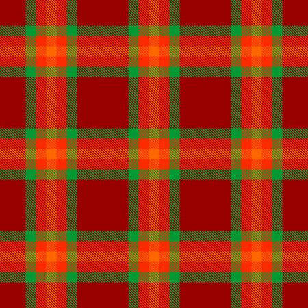 Red,Green and Orange Tartan Plaid Scottish Seamless Pattern. Texture from tartan, plaid, tablecloths, shirts, clothes, dresses, bedding, blankets and other textile.
