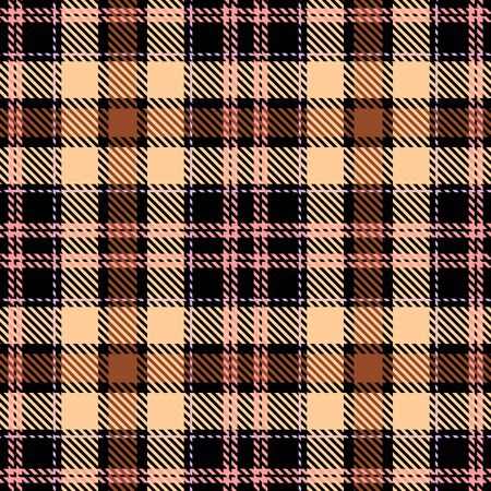 Beige,Brown,Black and Pink Tartan Plaid Scottish Seamless Pattern. Texture from tartan, plaid, tablecloths, shirts, clothes, dresses, bedding, blankets and other textile.
