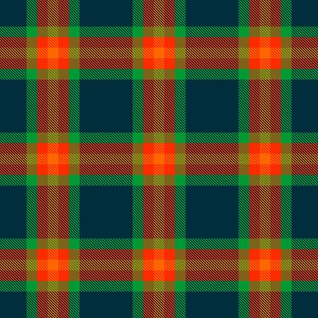 Blue-Green,Orange and Green Tartan Plaid Scottish Seamless Pattern. Texture from tartan, plaid, tablecloths, shirts, clothes, dresses, bedding, blankets and other textile. Çizim