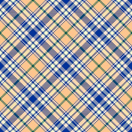 Blue,Beige and Green Tartan Plaid Scottish Seamless Pattern. Texture from tartan, plaid, tablecloths, shirts, clothes, dresses, bedding, blankets and other textile. Çizim