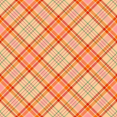 Pink,Beige,Red,Gold and Green Tartan Plaid Scottish Seamless Pattern. Texture from tartan, plaid, tablecloths, shirts, clothes, dresses, bedding, blankets and other textile. Çizim