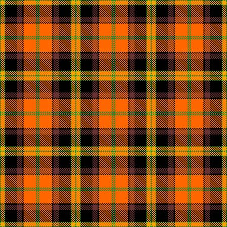 Orange,Yellow,Brown and Green Tartan Plaid Scottish Seamless Pattern. Texture from tartan, plaid, tablecloths, shirts, clothes, dresses, bedding, blankets and other textile. Çizim