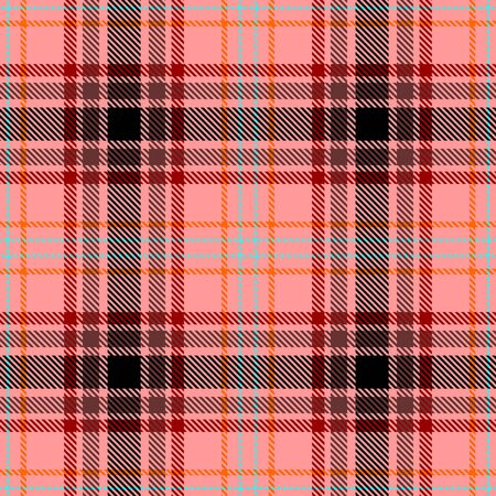 Pink,Red,Brown,Black,Blue and Orange Tartan Plaid Scottish Seamless Pattern. Texture from tartan, plaid, tablecloths, shirts, clothes, dresses, bedding, blankets and other textile.