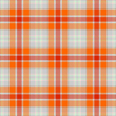 Red,Orange,Gray,Pink and Green Tartan Plaid Scottish Seamless Pattern. Texture from tartan, plaid, tablecloths, shirts, clothes, dresses, bedding, blankets and other textile. Çizim