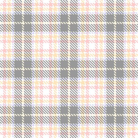 Gray,White,Pink,Beige and Purple Tartan Plaid Scottish Seamless Pattern. Texture from tartan, plaid, tablecloths, shirts, clothes, dresses, bedding, blankets and other textile. Çizim