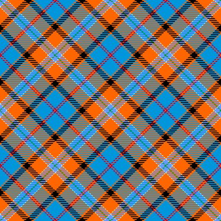Orange,Blue,Black and Red Tartan Plaid Scottish Seamless Pattern. Texture from tartan, plaid, tablecloths, shirts, clothes, dresses, bedding, blankets and other textile.