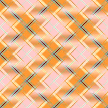 Pink and Gold Tartan Plaid Scottish Seamless Pattern. Texture from tartan, plaid, tablecloths, shirts, clothes, dresses, bedding, blankets and other textile.