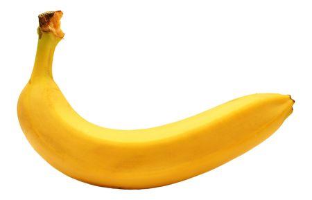 Banana - isolated on the white background