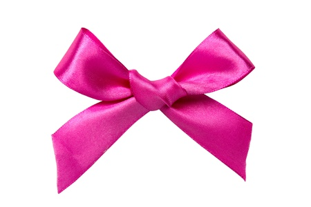 pink ribbon: Pink bow isolated on white background