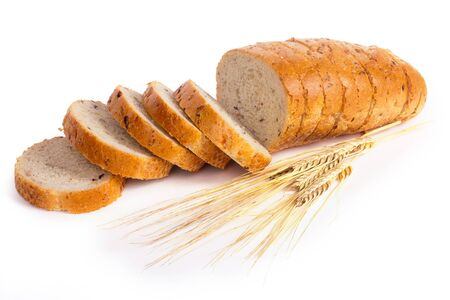 bakery products: bread on a white background