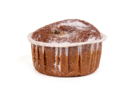 chocolate muffin isolated on white background Stock Photo