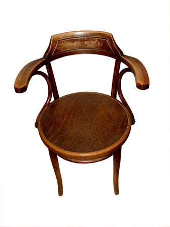 Chair made by hand, isolated
