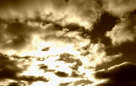 Sky, sepia Stock Photo