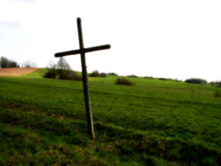 Cross in field, tone