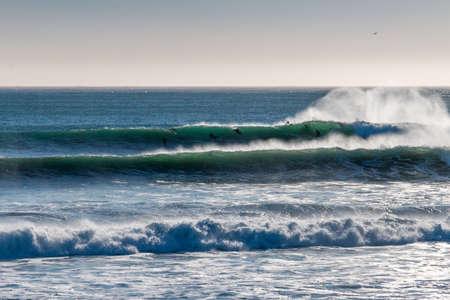 Seascape and waves in Santa Cruz, California