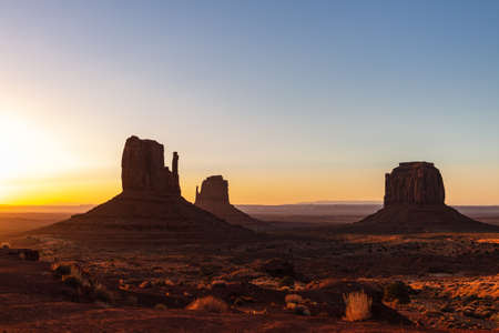 Scenic view of Monument Valley in Navajo Nation Lands