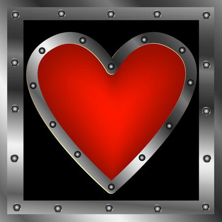 steel frame: Heart in a steel frame