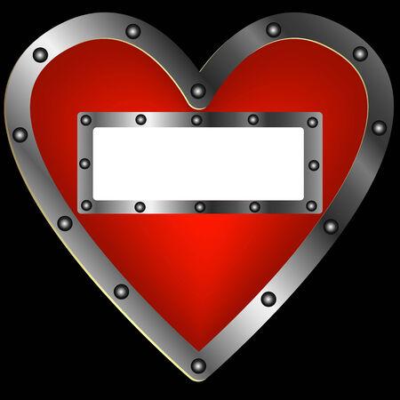 steel frame: Heart of the steel frame for an inscription
