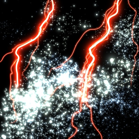 Electric flashes in a far unknown galaxy Stock Photo - 12191402