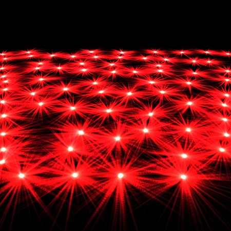 luminescence: Laser fires located on a black decorative background
