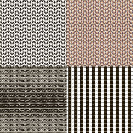 A set of abstract seamless texture for decorating Stock Vector - 13854854