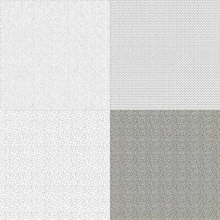 Set of four seamless background textures Vector