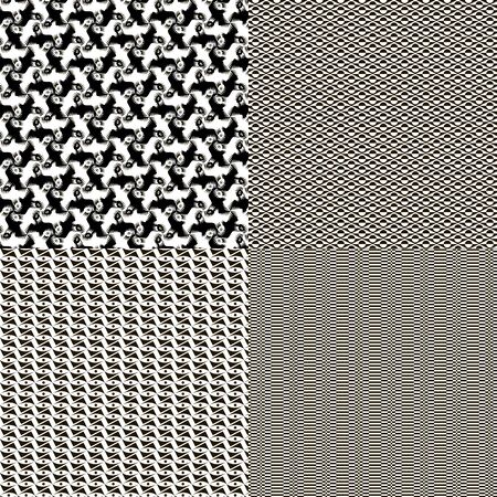 striping: A set of four decorative texture to the background