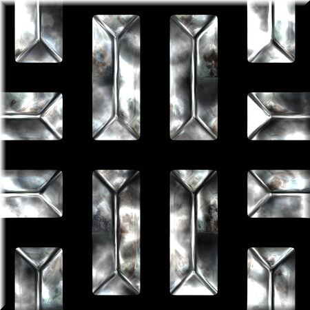 silver ingots: Ornate seamless texture in a square tile