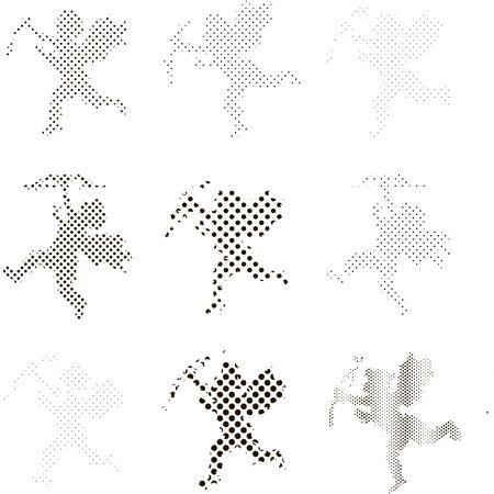 substrate: Textura figuras de Cupido sin sustrato de fondo