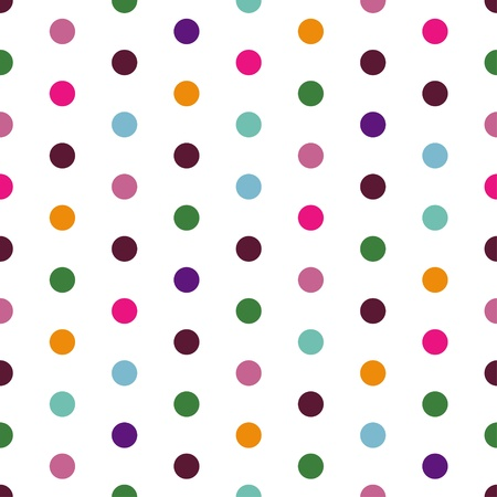 pea: Vector - Seamless patterned white texture with colorful polka dots