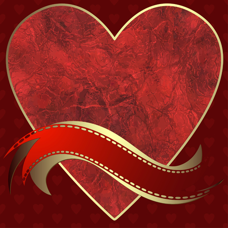 perforation: Image of heart on a red background in the form of square tiles