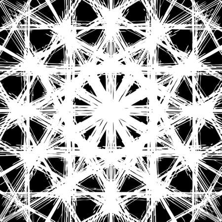 terrazzo: Ornate decorative snowflake on a black background