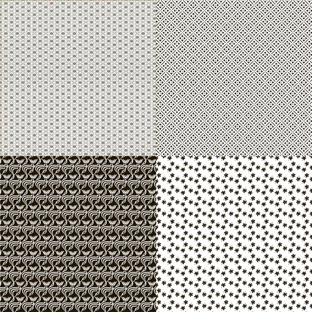 Set of seamless textures patterned in the form of a square Vector