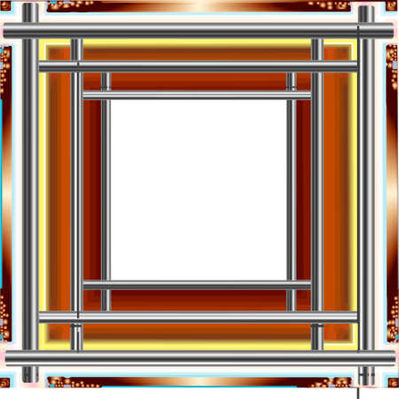 Decorative Patterned A Frame In The Form Of A Square Royalty Free ...