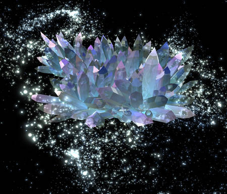 brittle: Mysterious crystals flying in a distant galaxy