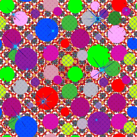 terrazzo: Seamless patterned texture as square tiles