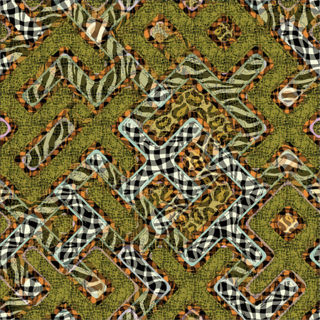 terrazzo: Ornate seamless texture in the form of square tiles