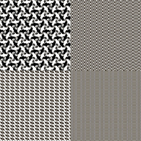 Set of seamless textures patterned in a square tile Vector