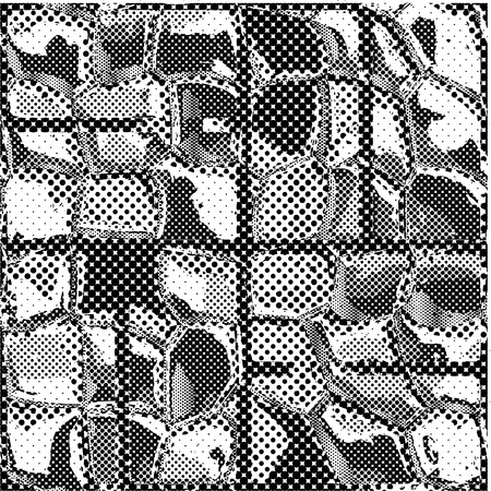 terrazzo: Seamless texture of patterned dots in the form of square tiles Illustration