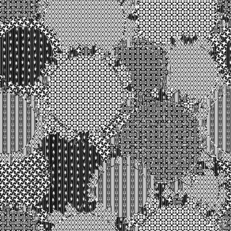 Ornate seamless texture in the form of square tiles Vector